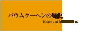 バウムクーヘンの歴史