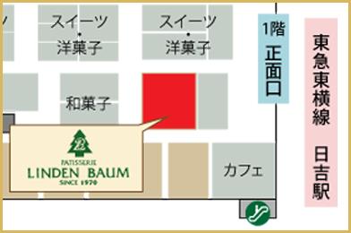 リンデンバウム日吉東急avenue店1 案内図